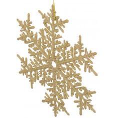 Украшение новогоднее «Снежинка большая», пластик, цвет золото матовое
