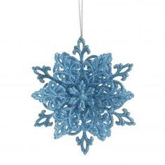 Украшение новогоднее «Снежинка Классика», 4 см, пластик, цвет голубой