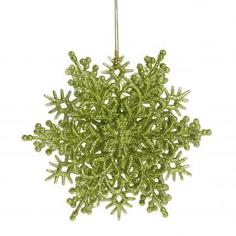 Украшение новогоднее «Снежинка Классика», 4 см, пластик, цвет салатовый