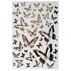 Наклейка «Золотые бабочки» Декоретто XL