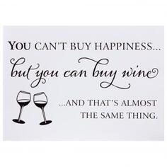 Наклейка «You can buy wine»
