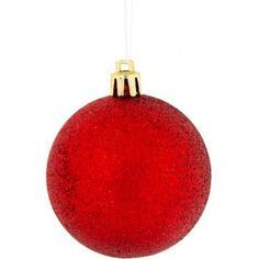 Набор ёлочных шаров, 6 см, цвет красный, 3 шт.