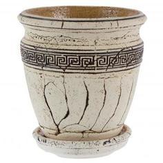 Горшок цветочный «Аттика №3» 4 л 230 мм, шамотная глина