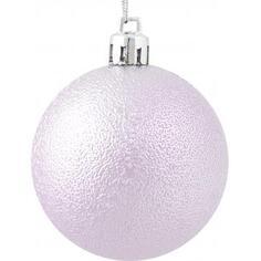 Набор ёлочных шаров 6 см, цвет розовый, 6 шт.