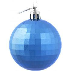 Шар ёлочный «Диско» 6 см, пластик, цвет синий