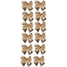 Бант новогодний «Золото», 5х5 см