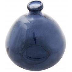 Ваза из переработанного стекла, цвет голубой