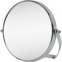 Зеркало косметическое настольное увеличительное 15 см цвет хром TWO Dolfins