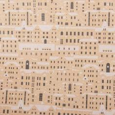 Бумага упаковочная крафт «Домики» 50х70/2 листа Симфония