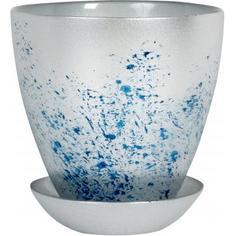 Горшок «Современный», 0.85 л, 13.2 см, стекло, цвет серебрённый металлик Nina Glass