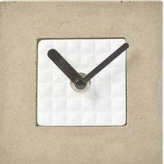 Часы настольные квадратные 18-304, цвет бетон