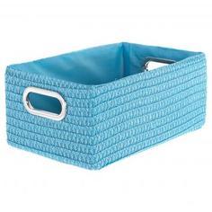 Короб без крышки L 34х16x22 см, плетенье, цвет голубой