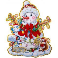 Панно новогоднее «Милый снеговичок 3» 30 см