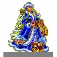 Панно новогоднее «Снегурочка» 35 см