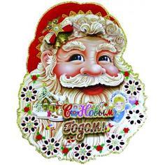 Панно новогоднее «Дед Мороз 1» 35 см