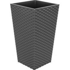 Горшок цветочный «Ротанг» коричневый 200 мм, пластик Idea