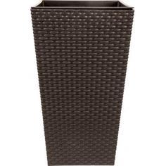Горшок цветочный «Ротанг» коричневый 260 мм, пластик Idea