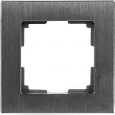 Рамка Werkel Aluminium, 1 пост, цвет чёрный алюминий