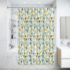 Штора для ванны Triangular 180x200 см, полиэстер Bath Plus
