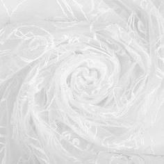 Тюль «Романтик» вышивка 285 см цвет белый