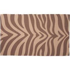 Коврик для ванной комнаты Animal 50х80 см бежевый/коричневый Swensa