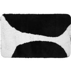 Коврик для ванной комнаты Bim 50х80 см чёрный/белый Swensa