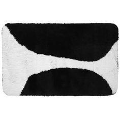 Коврик для ванной комнаты Bim 60х90 см чёрный/белый Swensa