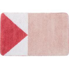 Коврик для ванной комнаты Bauhen 50x80 см цвет розовый Swensa