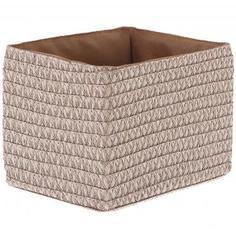 Короб без крышки S 21х16х16 см, плетенье, цвет бежевый