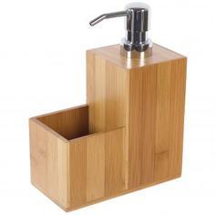 Диспенсер для моющего средства BAO, 12х12х18.5 см, бамбук
