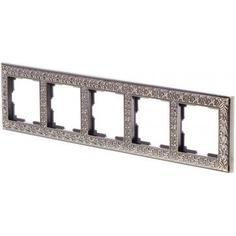 Рамка для розеток и выключателей Antik 5 постов цвет бронза Werkel