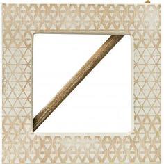 Заколка для штор «Миа» 14.5х14.5 см цвет натуральный/белый Inspire