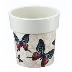 Кашпо «Бабочки» 5 л, 250 мм, Тубус Деко Idea