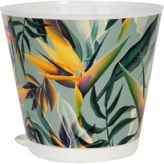 Горшок для цветов «Тропики», 1.8 л, 16 см, полипропилен, с поддоном Ingreen