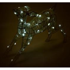 Электрогирлянда-фигура светодиодная «Олень» для улицы 50 ламп, цвет холодный белый