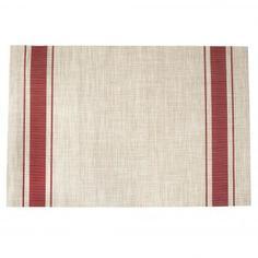 Скатерть-салфетка «Плетёная», прямоугольная, 60x90 см, цвет красный
