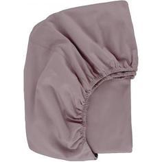 Простыня двуспальная, 160x200 см, трикотаж, цвет розовый