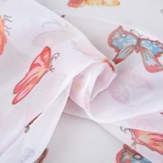 Вуаль «Бабочки», 280 см, цветы, цвет мультиколор