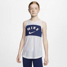 Майка для тренинга для девочек школьного возраста Nike