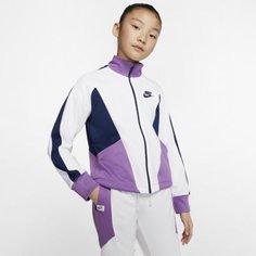 Куртка с молнией во всю длину для девочек школьного возраста Nike Sportswear Heritage
