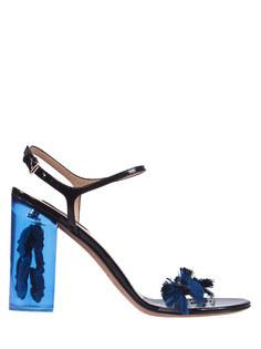 Босоножки KW2S0087/ Синий/бабочки Valentino