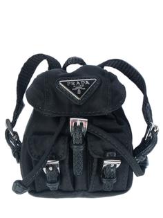Текстильный брелок 1TT010/рюкзак Черный Prada
