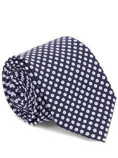 Шелковый галстук в горох 16-10 H-1 Синий Горох Franco Bassi
