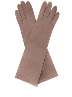 Перчатки замшевые удлинённые Sermoneta