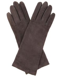 Перчатки удлинённые замшевые Sermoneta