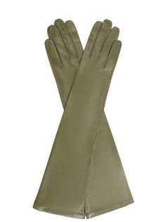 Перчатки кожаные удлиненные 301B- Зеленый Sermoneta