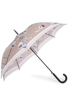 Зонт-трость с принтом 20763/карта Pollini