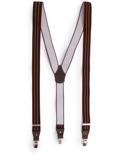 Подтяжки комбинированные Gordon/809/36R-120 Бордовый Зеленый Adriano Meneghetti