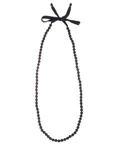Бусы классические 26088-мелкие Черный Parronchi