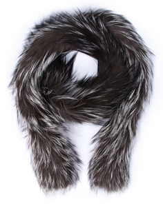 Горжетка из меха лисицы 167334 Серый Черный Prada